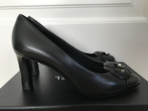 Chanel Camellia Flower Black Pumps