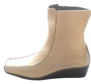 Pons Quintana Leather Suede Wedge light beige Boots