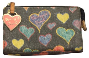 Dooney & Bourke Dooney & Bourke Coated Canvas Heart Monogram Zipper Pouch