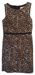 Ann Taylor LOFT Leopard Sheath Above The Knee Dress
