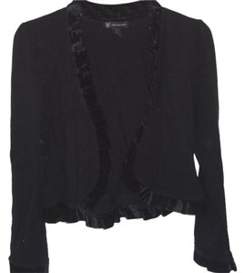 INC International Concepts Shrug Rayon Blend Top black