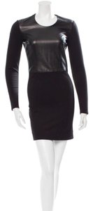 Helmut Lang Leather Panel Winter Fall Lambskin Dress