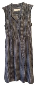 Ann Taylor LOFT short dress Gray polka dot Knee-length Empire Waist on Tradesy