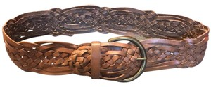 Express Woven Leather Belt By Express