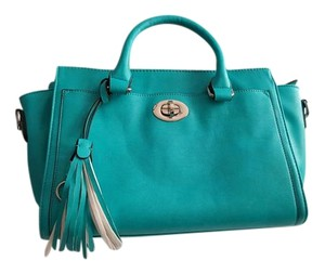 Charming Charlie Tote Satchel in teal