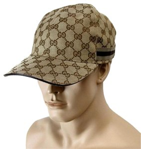 Gucci Beige GG Canvas Baseball HAT w/Brown/Beige Web SZ XL 200035 8375