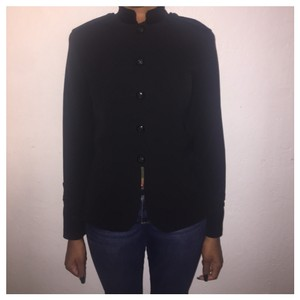 Ralph Lauren Black Label Black w/ Velvet Collar Blazer