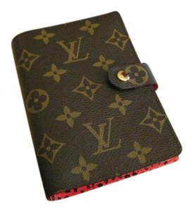 Louis Vuitton AUTHENTIC KUSAMA SMALL RING AGENDA PM DOTS INFINITY in ROUGE RED NEW
