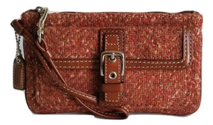 Coach New Tweed Wristlet in Rose Tweed