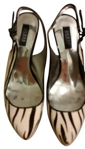 Guess By Marciano Leather Animal Print black/white Sandals