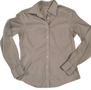 Brooks Brothers Button Down Shirt Blue stripes