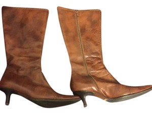 J.Crew Leather Vintage Cognac Boots