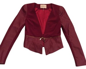 Lucy Paris Magenta Leather Jacket
