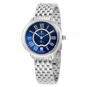 Michele $1095 NWT 'Serein 16' BLUE MOP Dial Diamond WATCH MW21B00A0964