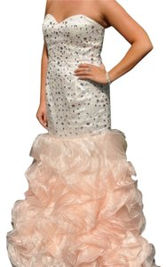 Jovani Studded Strapless Mermaid Dress