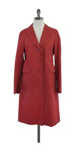 Jil Sander Red Cotton Trench Trench Coat