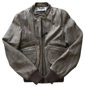 DOMA Gray Leather Jacket