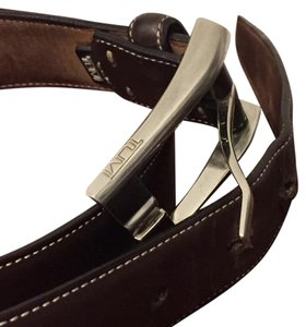 Tumi Tumi Classic Dress Casual Brown Leather Belt
