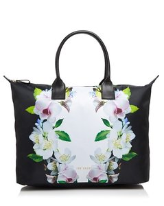 Ted Baker Leather Nylon New With Tags Tote in Black Multi