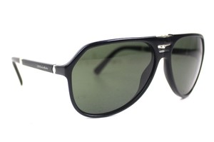 Dolce&Gabbana Black Foldable Aviator Sunglasses New DG4196