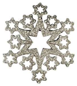 Swarovski Genuine Signed Swarovski 2005 Crystal Snowflake Pin/Necklace Pendant - #1791956