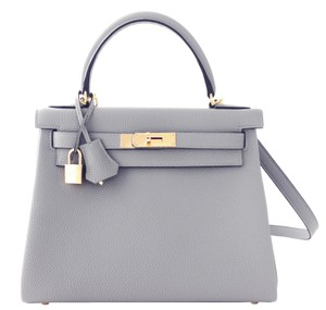 Hermès Kelly 28 Kelly 28 Gris Tourterelle Shoulder Bag