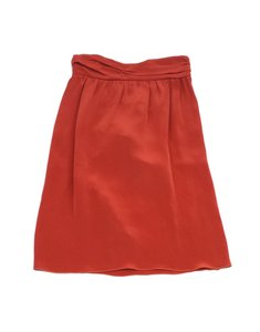 Missoni Rust Orange Ruffle Back Skirt