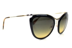 Miu Miu Tortoise Black Retro Cat Eye Sunglasses New SMU51P