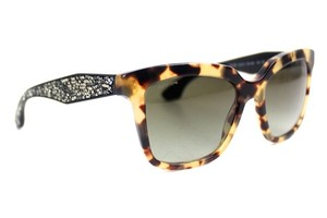 Miu Miu Tortoise Crystal Rock Sunglasses New SPR09P