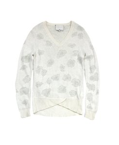 3.1 Phillip Lim White Cheetah Print Sweater