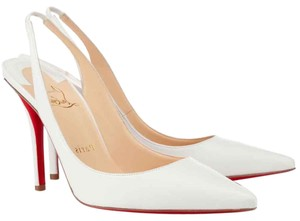 Christian Louboutin Red Sole Loubotin Woman High Heels White Sandals