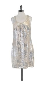 Aidan Mattox short dress Nude Silver Sequined Tank on Tradesy