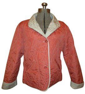 ORVIS Quilted Reversible red & khaki Jacket