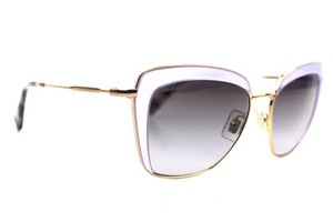 Miu Miu Butterfly Lilac Gold Sunglasses New SMU52Q
