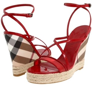 Burberry Brick Red Wedges