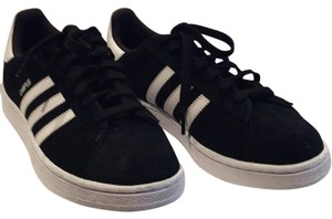Addidas Campus Black with white stripes Athletic