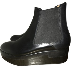 Maison Margiela Patent Leather Elastic Black Boots