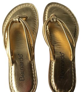 Bernardo Gold Sandals
