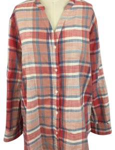 Joie Button Down Shirt Red