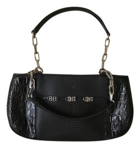 Hugo Boss Leather Lizard Skin Wristlet in Black