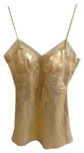 Trina Turk Night Out Date Night Strappy Sexy Top Gold