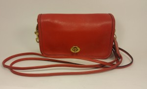 Coach Limited Edition Vermilion Red X-body Leather Shoulder Bag