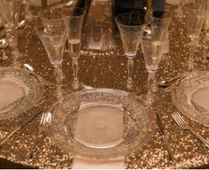 Champaign Gold Glitz Tablecloth - 120