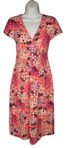 Boden short dress Knit Cotton Jersey Floral on Tradesy