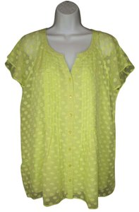 Soft Surroundings Polka Dot Sheer Silk Top
