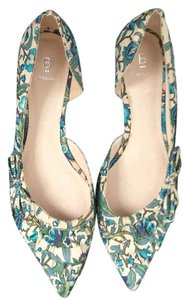 Vintage Bakers size 7 1/2 turquoise printed flats Flats