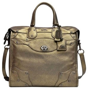 Coach Satchel in Metallic Brass