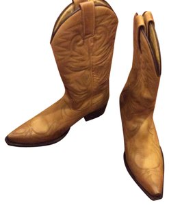 Handmade in Spain Limited Edition Cowgirl Boots 10 Brown Boots