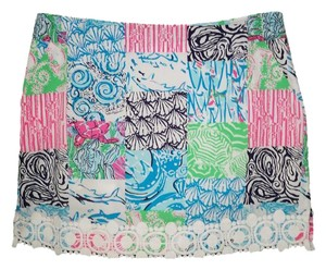 Lilly Pulitzer Patchwork Skorts Cotton Lace Skort