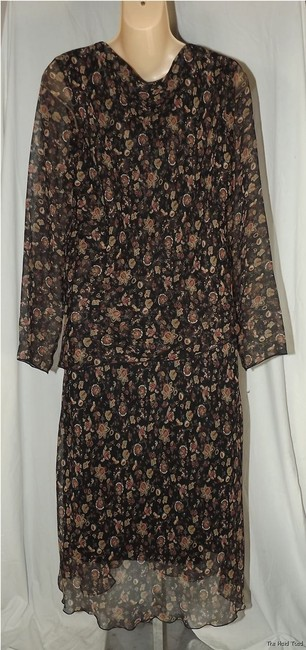 Believe Floral Print Career Business Size 10 Fall Dress